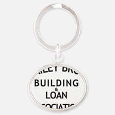 Its a Wonderful Building and Loan Oval Keychain