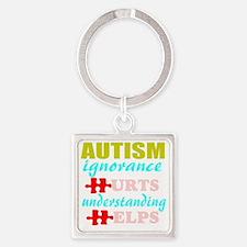 Autism understanding helps Square Keychain