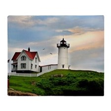 Nubble Lighthouse Throw Blanket