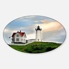 Nubble Lighthouse Sticker (Oval)