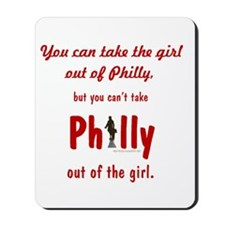 You can take the girl out of Philly, but Mousepad