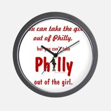 You can take the girl out of Philly, bu Wall Clock