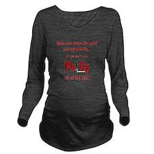 You can take the gir Long Sleeve Maternity T-Shirt