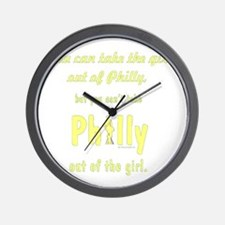You can take the girl out of Philly [tr Wall Clock