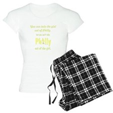 You can take the girl out o pajamas