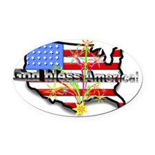 God bless America! 3 Oval Car Magnet