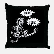 zombie-boobs-BUT Throw Pillow