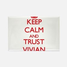Keep Calm and TRUST Vivian Magnets