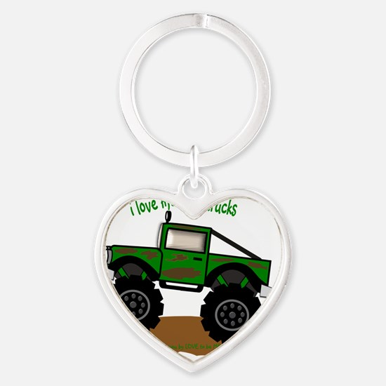 MONSTER TRUCK - LOVE TO BE ME Heart Keychain