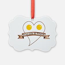 Love Heart Bacon and Eggs Ornament