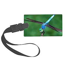 Beautiful Blue Dragonfly Luggage Tag