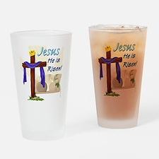 Jesus He is Risen! Drinking Glass