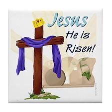 Jesus He is Risen! Tile Coaster