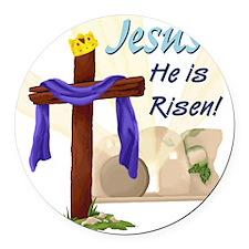 Jesus He is Risen! Round Car Magnet