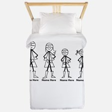 Personalized Super Family Twin Duvet