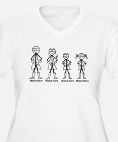 Personalized Super Family Plus Size T-Shirt