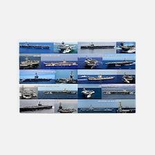 Nimitz Class Aircraft Carrier Poste 3'x5' Area Rug