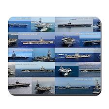 Nimitz Class Aircraft Carrier Poster Mousepad