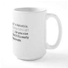 Helvetica Quote Mug