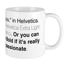 Helvetica Quote Small Mugs