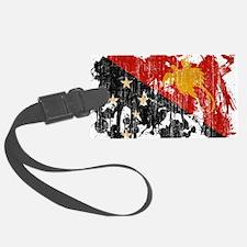Papua New Guinea textured splatt Luggage Tag