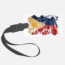 Philippines textured splatter ag Luggage Tag