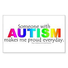 Autism Pride Rectangle Decal
