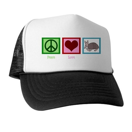 peacelovearmadilloswh Trucker Hat