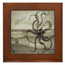The Kraken Framed Tile