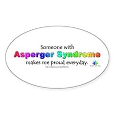 """Asperger Syndrome Pride"" Oval Decal"