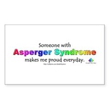 """""""Asperger Syndrome Pride"""" Rectangle Decal"""