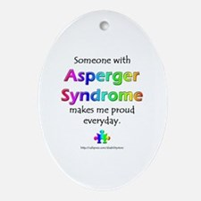 """Asperger Syndrome Pride"" Oval Ornament"