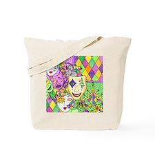 Mardi Gras Masks Flip Flops Tote Bag