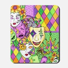 Mardi Gras Masks Flip Flops Mousepad