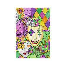 Mardi Gras Masks Flip Flops Rectangle Magnet