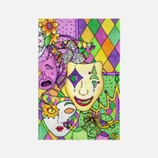 Mardi Gras Masks Flip Flops Rectangle Magnet