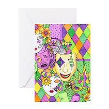 Mardi Gras Masks Flip Flops Greeting Card