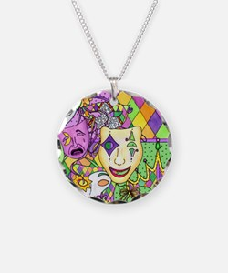 Mardi Gras Masks Flip Flops Necklace