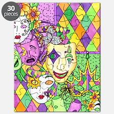 Mardi Gras Masks Flip Flops Puzzle