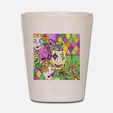 Mardi Gras Masks Flip Flops Shot Glass