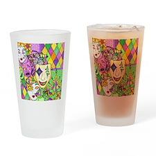 Mardi Gras Masks Flip Flops Drinking Glass