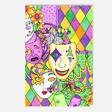 Mardi Gras Masks Flip Flo Postcards (Package of 8)