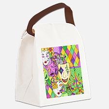 Mardi Gras Masks Flip Flops Canvas Lunch Bag
