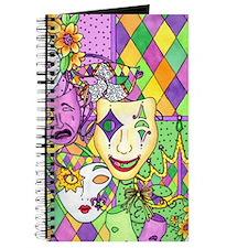 Mardi Gras Masks Flip Flops Journal