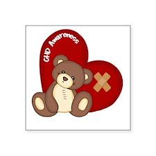"""Congenital Heart Defect Awa Square Sticker 3"""" x 3"""""""