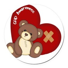 Congenital Heart Defect Awareness Round Car Magnet