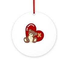Congenital Heart Defect Awareness Round Ornament
