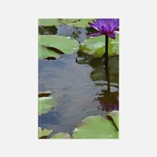 purple lily card Rectangle Magnet