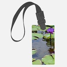 purple lily card Luggage Tag