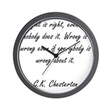 right and wrong Wall Clock